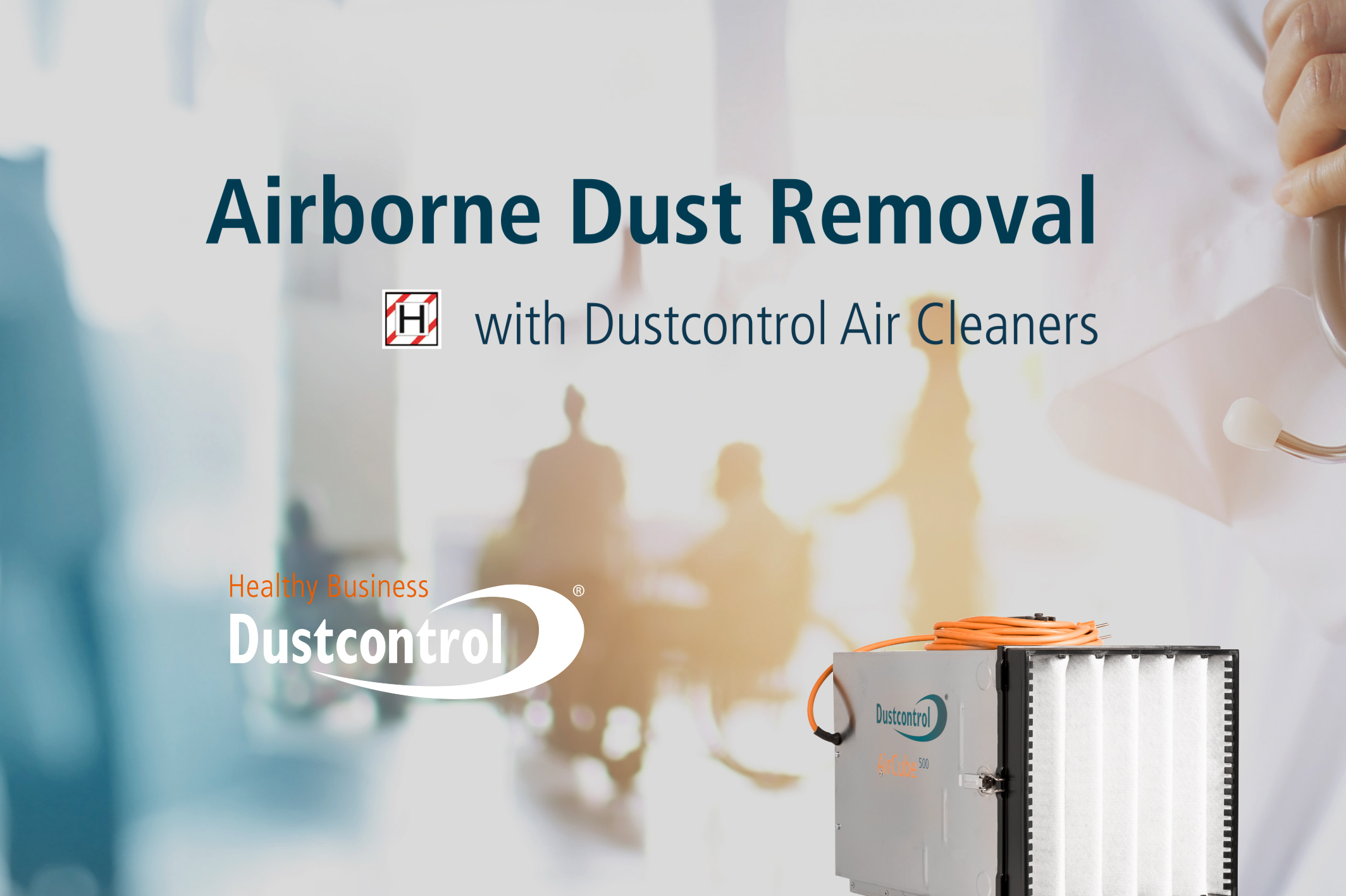 How industrial air cleaners used in construction can help limit the spread of airborne coronavirus particles in healthcare environments