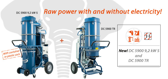 Dustcontrol dust extractors DC 5900 9,2 kW s and DC 5900 TR