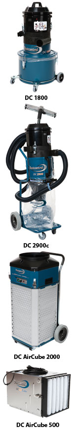 Mobile dust extractors and Air Cleaners from Dustcontrol